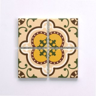 Taiwan Retro Tile Design Tile Potholder (Large)