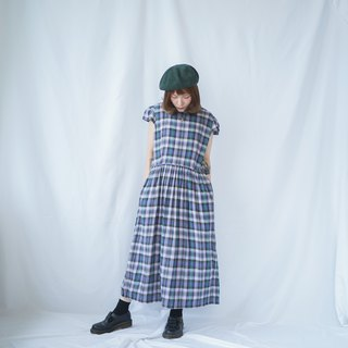 II Ancient II II Japanese II Plaid Vintage Dress II