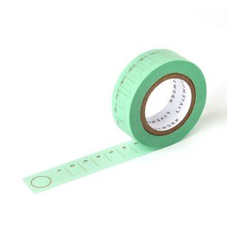 Livework Rainbow Functional Paper Tape - To Do Mint Green, LWK55293