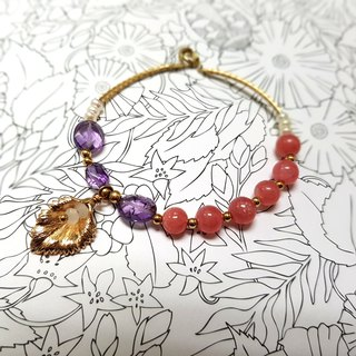 Crystal girl world - [Spring] - Rhodochrosite bracelet section for natural crystal bracelet