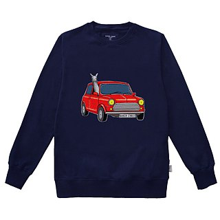 British Fashion Brand -Baker Street- Driving Alpaca Printed Sweater