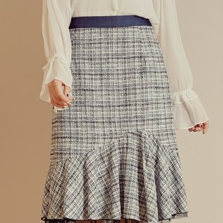 MIT Maug Pattern Color Fishtail Skirt (R6012B)