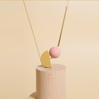STRING LONG NECKLACE (PINK)