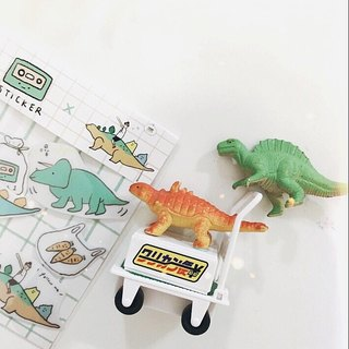 Dinosaur eating muffins / stickers