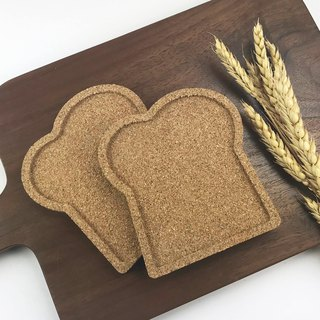 Wheat toast coaster / cork