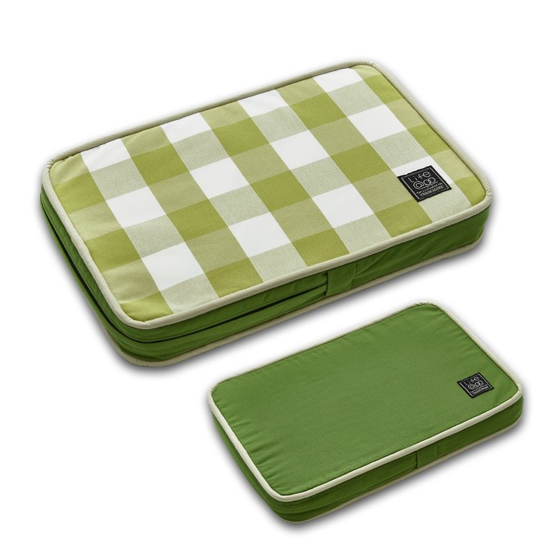 Lifeapp Pet Relief Sleeping Pad Large Plaid Type---XS (Green White) W45 x D30 x H5 cm