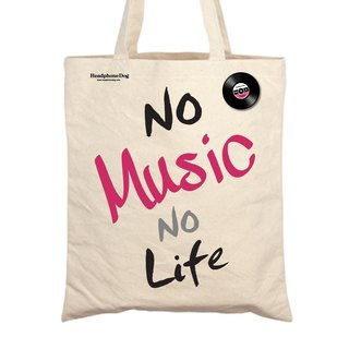 No music no life - Canvas bag + music badge (Shopping Bag)