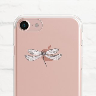 Dragonfly, Clear Soft Case, iphone X, iphone 8, iPhone 7, iPhone 7 plus, iPhone 6, iPhone SE, phone case, Samsung