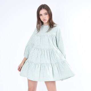 ZIZTAR small floral dress lattice green skirt shorts suit
