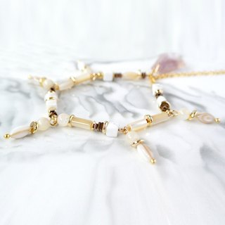Simple system. Simple shell honey crystal stone bracelet