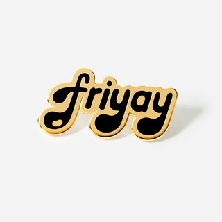 Word: Black Friyay Hat Lapel Pin