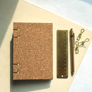 Pinus woody hardcover hand-sewn notebook