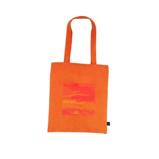Orange frame hand Tote bag