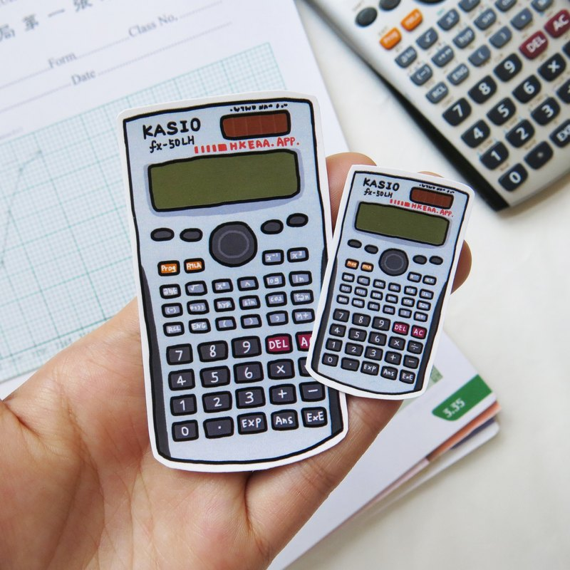 Math computer sticker size