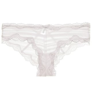 Lace mesh textured panties and white