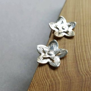 Cut flowers series Campanulaceae silver earrings - ear acupuncture