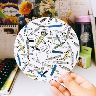 Dear to you - round pencil postcard