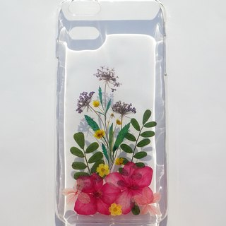 Handmade phone case, Pressed flowers phone case, iPhone 6 plus, Handmade with flowers