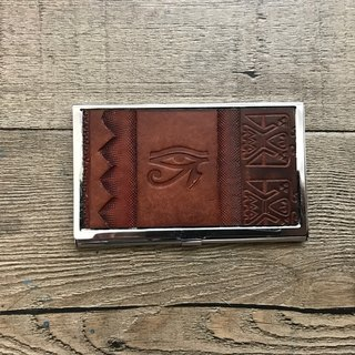 POPO│ Ancient Egypt. Eye of life │ leather business card storage box │