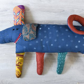 Buddy (dog) - pillow-puppet, original handmade plush doll