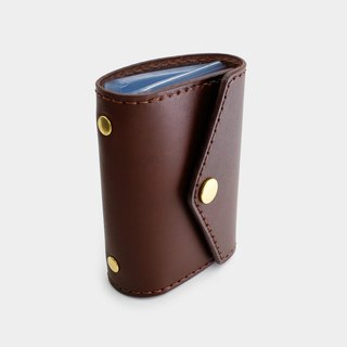 RENEW - Vegetable tanned leather hand stitch 20 card card holder / card holder / business card holder brown