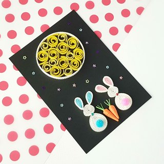 Hand made decorative cards-rabbit