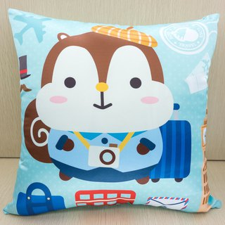 Squly Cushion (travel with blue background)