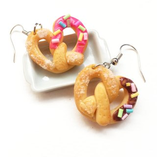 Strawberry bread + chocolate earring