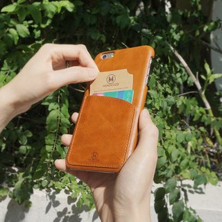 EXQUISITE | Leather Phone Case - IPHONE 6 / 6S PLUS - Coffee