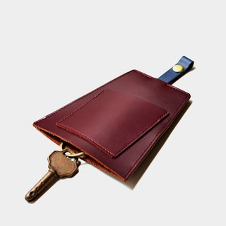 【Lunch Evening】 Cowboy Key Brewery Red Blue Leather Can Place Card Poker Card Credit Card Passenger Carving Letter When Gift Valentine's Day Gift