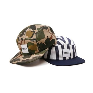 Filter017 Logo 5-Panel Cap Deciduous Camouflage / Blue Striped Five Split Cap