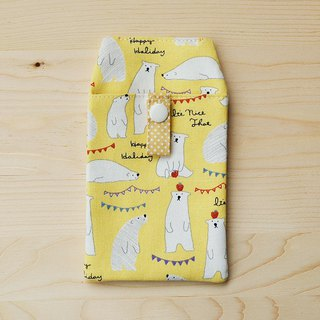 Apple Polar Bear Pocket Pencil _ Yellow / With Document Bag