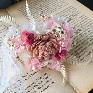 [good flower] dry pink rose hand pull flower wedding small thing bridesmaid hand flower wedding jewelry