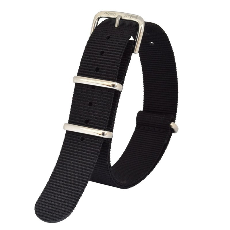 BOND STONE 20mm NATO nylon belt Black(40mm case only)