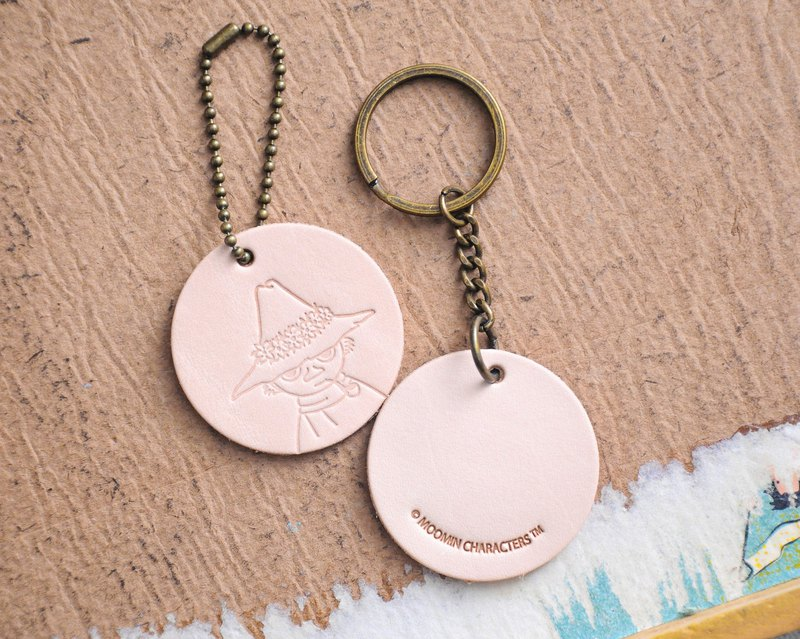 MOOMIN x Hong Kong-made leather Shi Liqi charm key ring color material package officially authorized