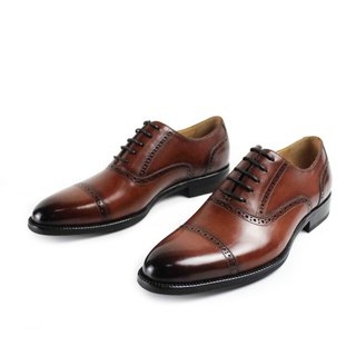 Handmade vintage fashion wedding party designer leather men's lace oxford shoes