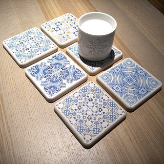 Christmas gift [MBM] mix and match rural MBM tile diatomaceous earth coaster _ single piece (multiple colors available)