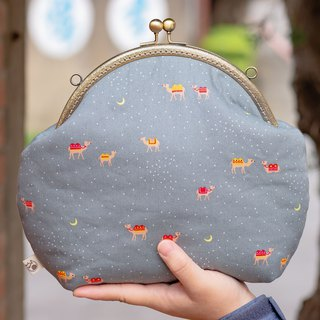 [Super cute planet] retro metal mouth gold bag - big section #随包# Christmas gift # 可爱