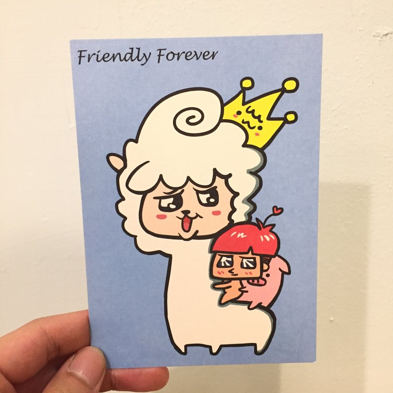Friendly Forever 草泥馬 明信片