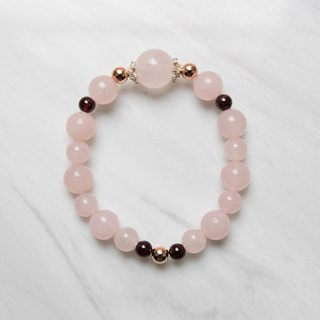[Pink Bubble] Pink Crystal Pomegranate Design Bracelet