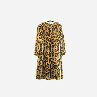 Dislocation vintage / fur leopard dress no.930 vintage