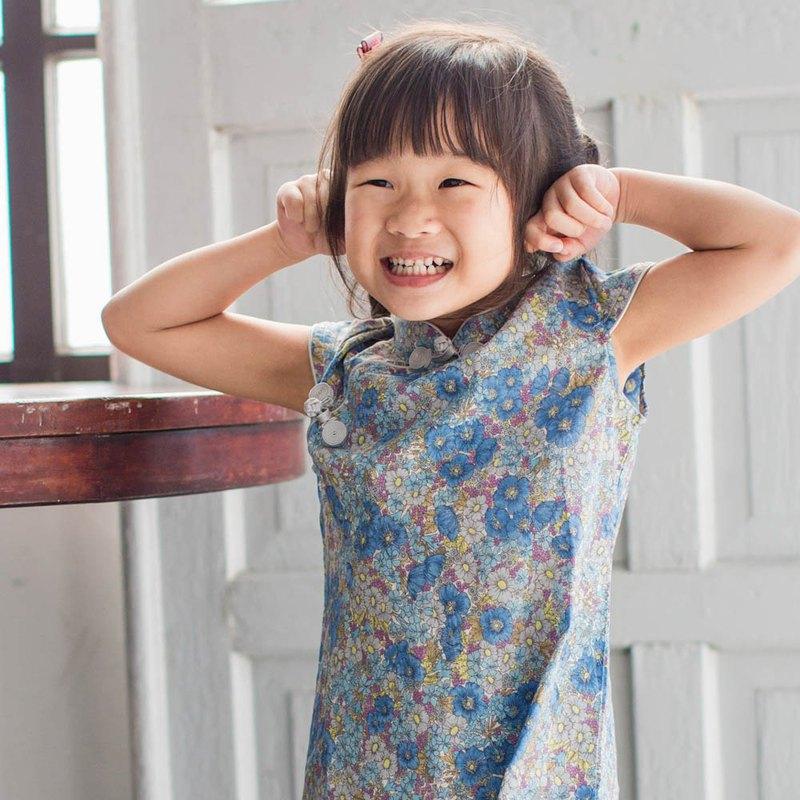 兒童旗袍 古風 四季款 秘密紫羅