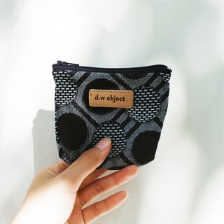 denim coin purse - dots
