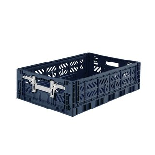 Turkey Aykasa Folding Storage Basket (L15) - Navy Blue