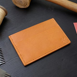 [Christmas limited offer] simple business card holder - camel [Fulie District carved leather]