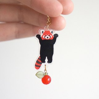 |molamolasola| RedPanda Standing earrings/ear clip