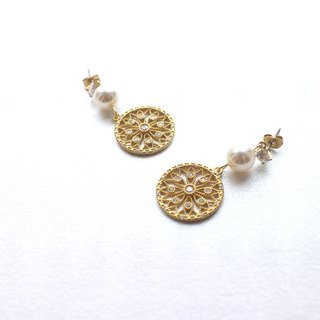 Double circles- Brass earrings
