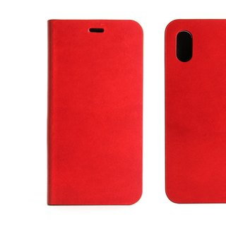 BEFINE iPhone X TASCA Premiun leather side lift case - red (8809402594368)