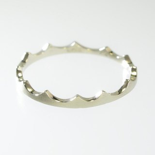 "Japan Quality | inGod Stacking Ring ""Nami"" 14K WG"