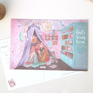 Youth study / original hand-painted illustration postcards